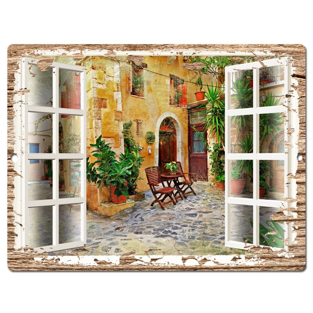 PP0600 French Window Scenery Chic Sign Shop Store Cafe ...