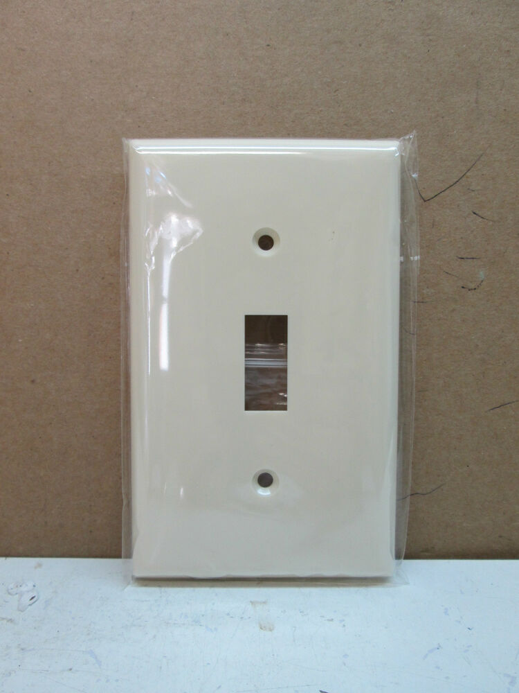 Premier 1-Gang Single Toggle Switch Cover Wallplate Wall Plate - Light Almond eBay