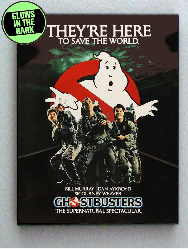 Original Ghostbusters Glow In The Dark Framed Mini Poster