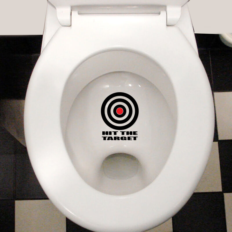 hit the target funny cool waterproof toilet lid wall. Black Bedroom Furniture Sets. Home Design Ideas