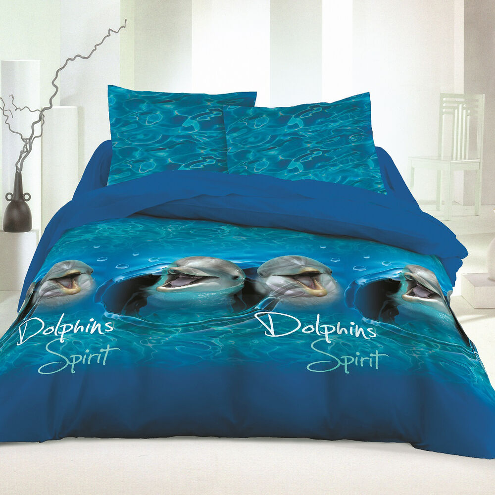 Dolphins Blue Soulbedroom 100 Cotton Bed Set Duvet