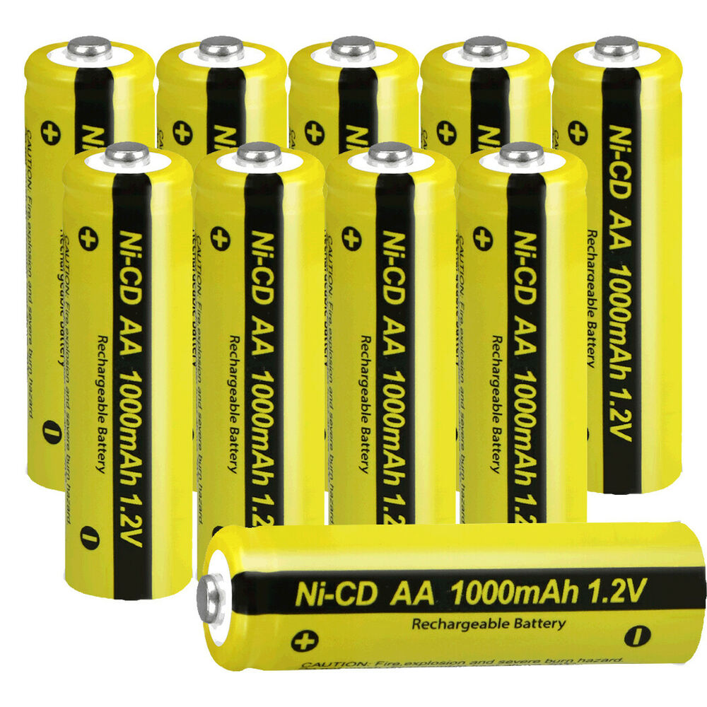 10 pcs 1000mah 1 2v aa nicd rechargeable batteries button. Black Bedroom Furniture Sets. Home Design Ideas