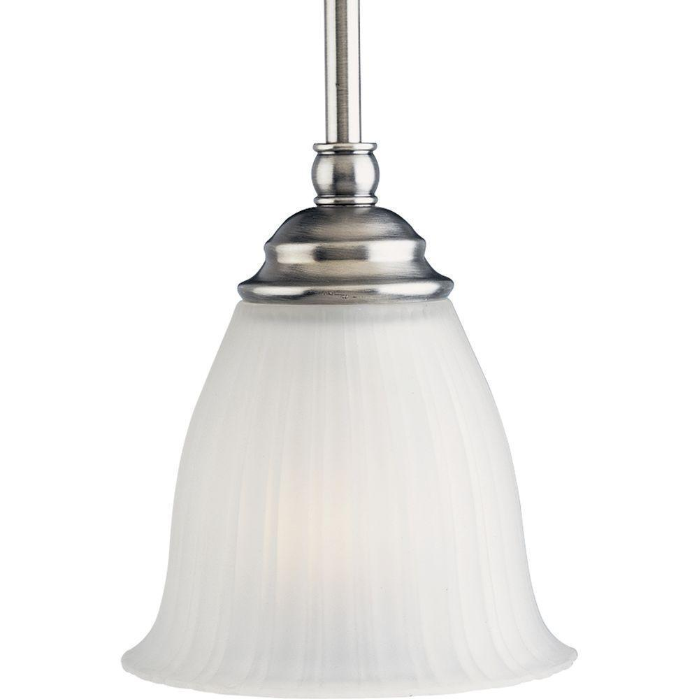 progress lighting renovations 1 light antique nickel mini