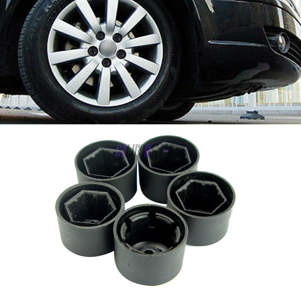 5x Lock Nut Lug Covers Anti Theft Wheel Lug Nut Caps Set