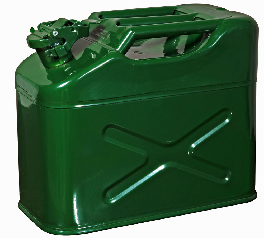 10 Litre Jerry Can Metal Diesel Oil Fuel Transport Petrol