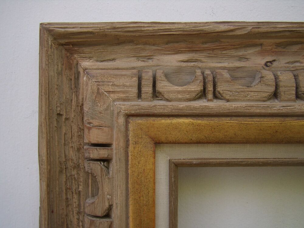 Hand Carved Wood Rustic Western Southwestern Picture Frame