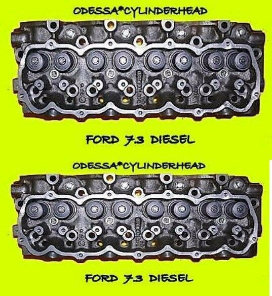New Ford F150 Diesel >> 2 FORD INTERNATIONAL 7.3 DIESEL CYLINDER HEADS F250 F350 REBUILT | eBay