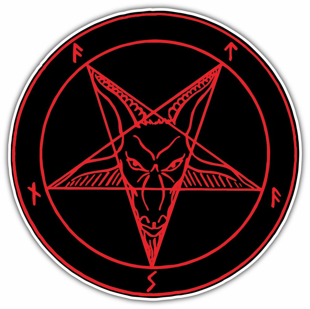 Sigil Of Lucifer Satan Devil Demon Evil Hell Bumper Vinyl