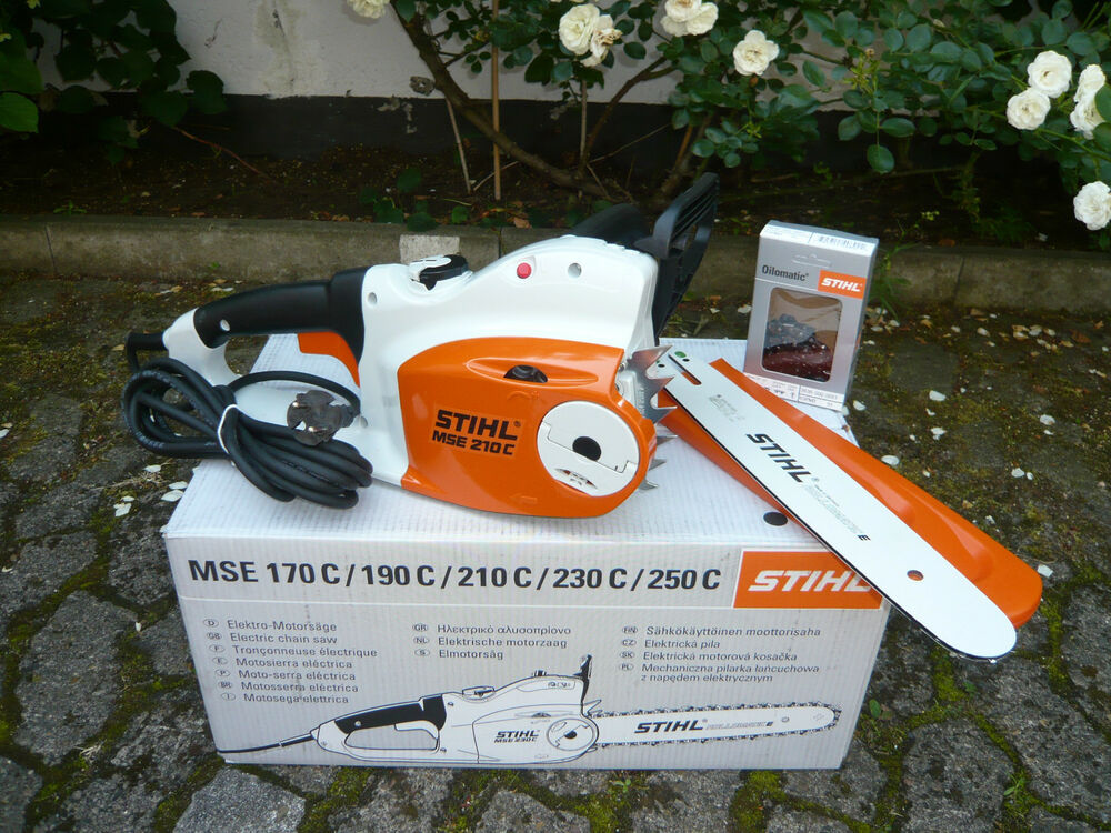 stihl elektro kettens ge motors ge elektros ge mse 210 c bq 35 cm 1 3mm kette ebay. Black Bedroom Furniture Sets. Home Design Ideas