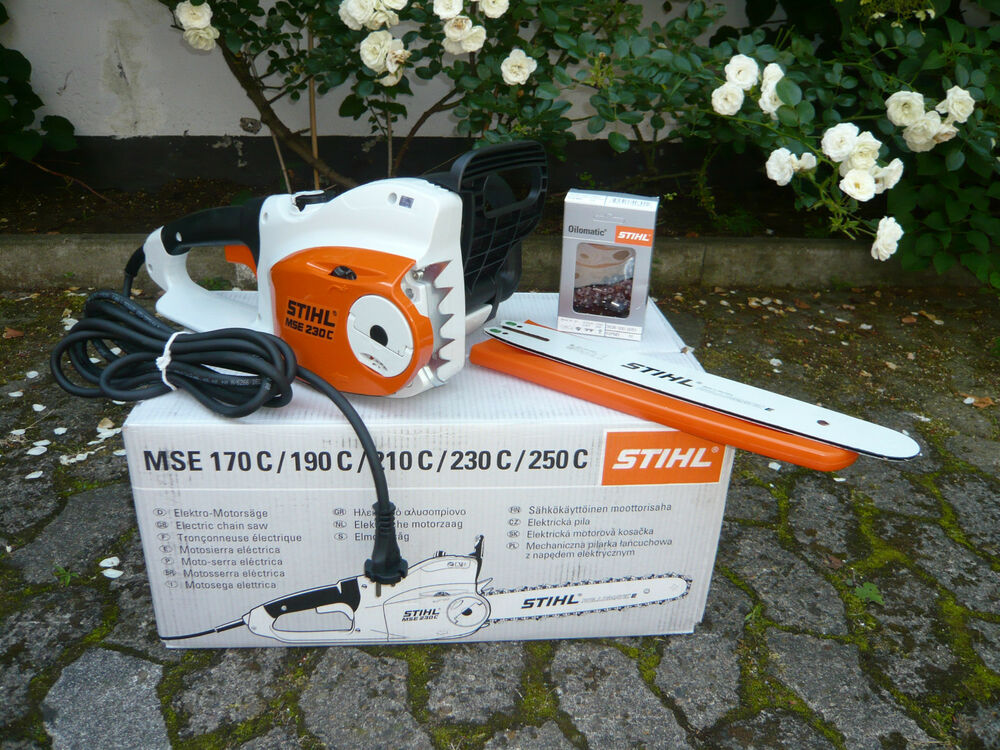 stihl elektro kettens ge motors ge elektros ge mse 230 c bq 35 cm 1 3mm kette ebay. Black Bedroom Furniture Sets. Home Design Ideas