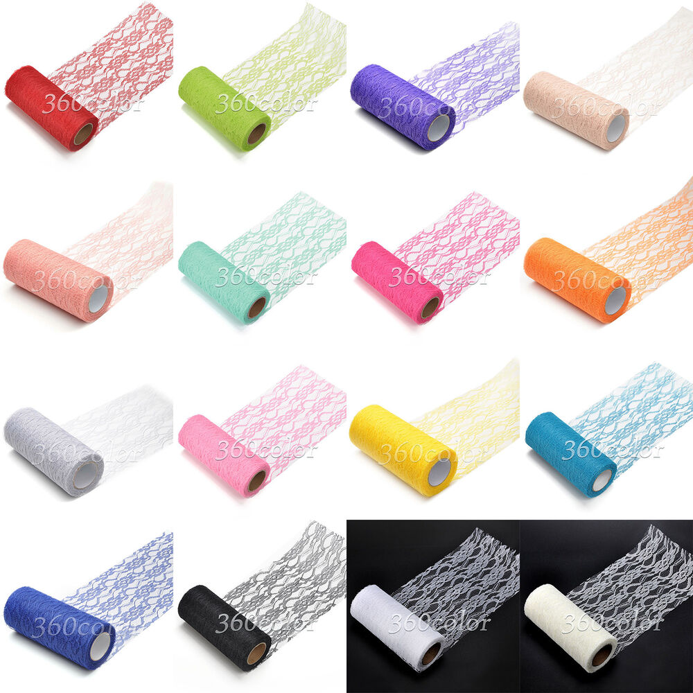 6 Quot X 10yards Lace Net Roll Runner Mesh Chair Sash Ties