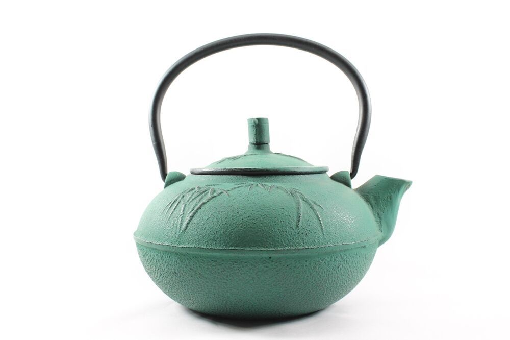 Japanese tetsubin green cast iron teapot 1 5 liter 50oz - Teavana tea pots ...