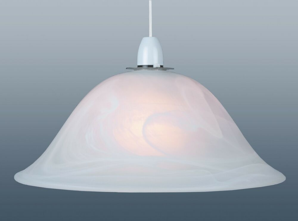 Ceiling Lights Glass Shades : Classic pendant murano effect glass lamp shade frosted ceiling or floor inch