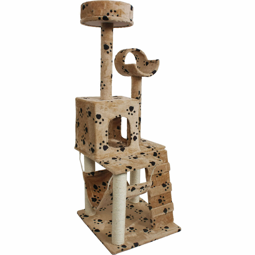 """52"""" Cat Kitty Tree Tower Condo Furniture Scratch Post Pet"""