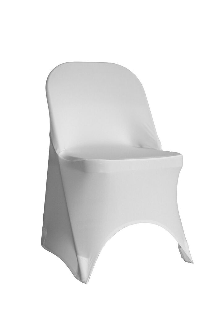 Spandex Folding Chair Covers White