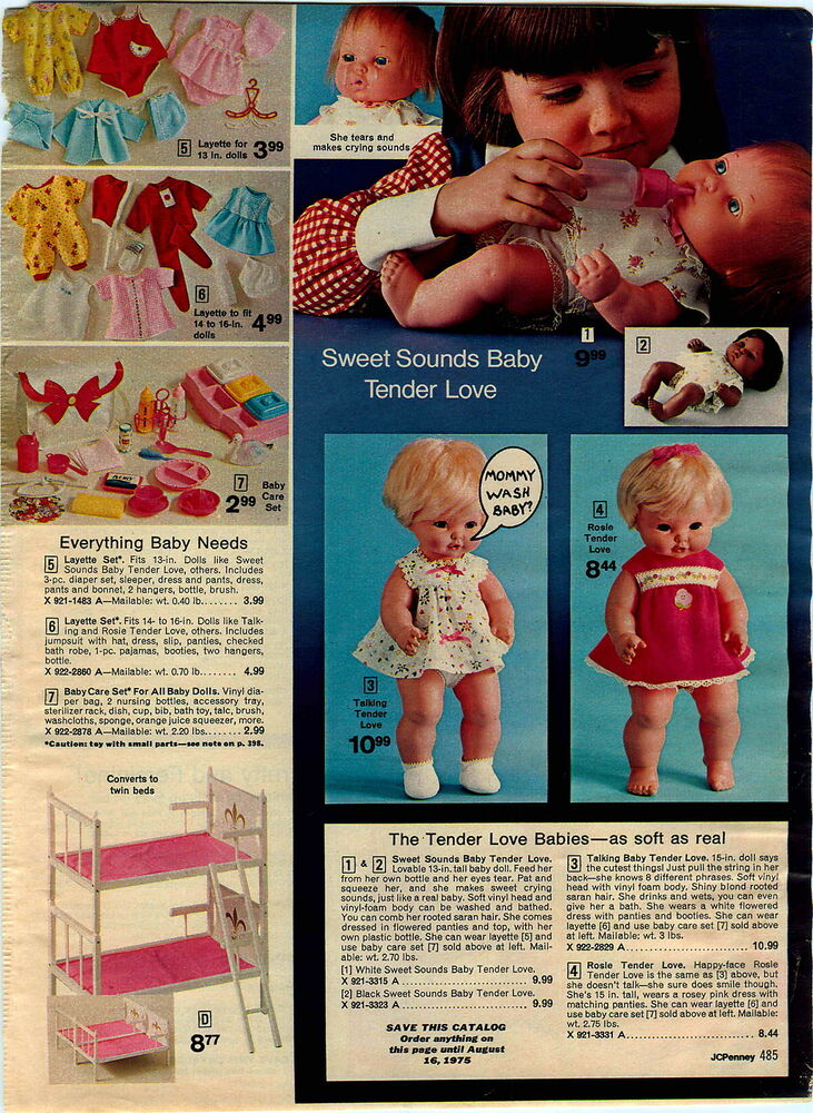 1974 Advert Vogue Baby Dear One Doll Mattel Tender Love