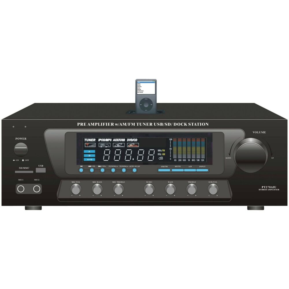 Pyle Home PT270AIU 30-watt Stereo AM/FM Receiver With IPod