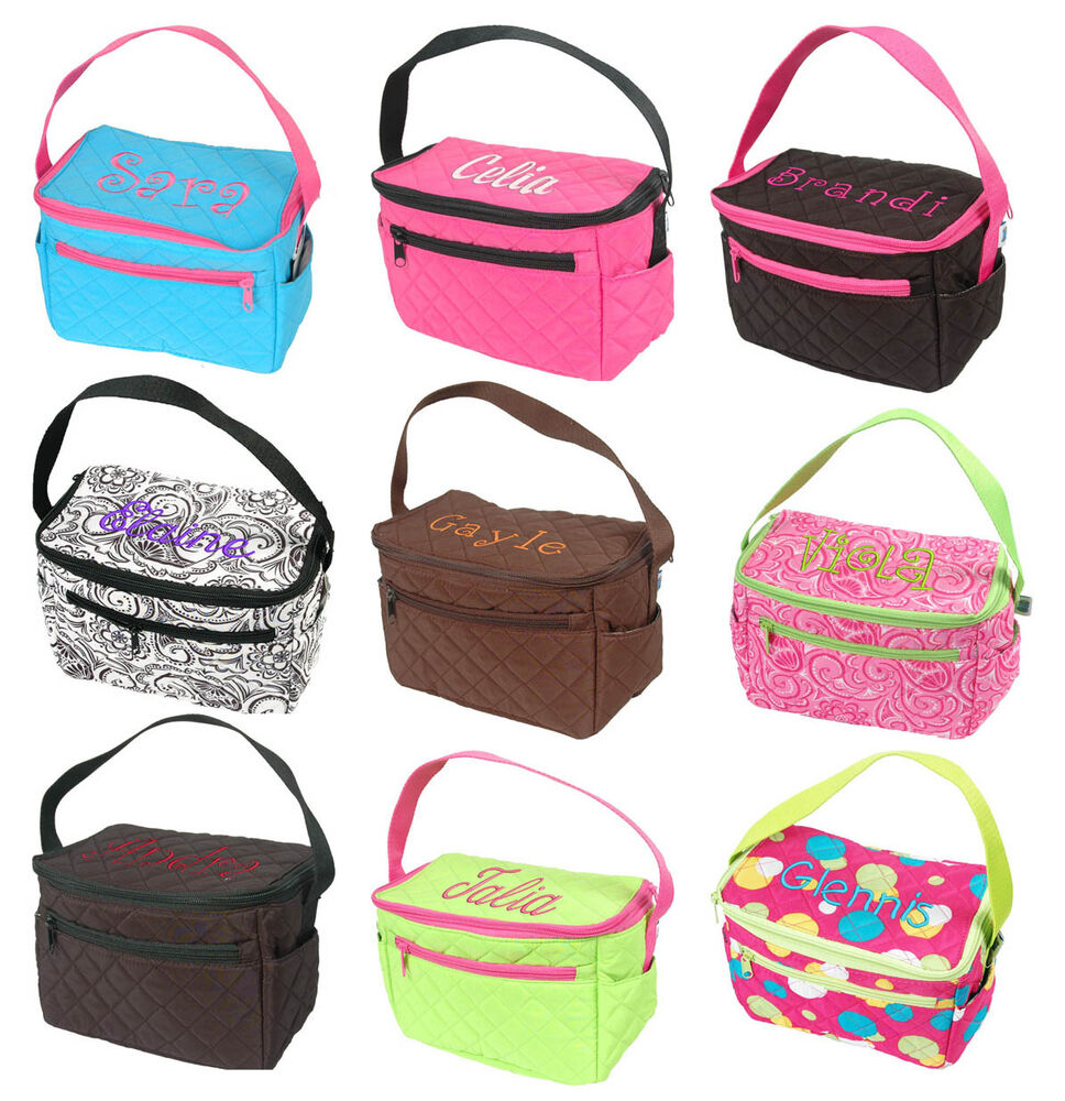 Tote bags for high school - Tote Personalized Monogram Name Insulated Lunchbox Girl Bag School
