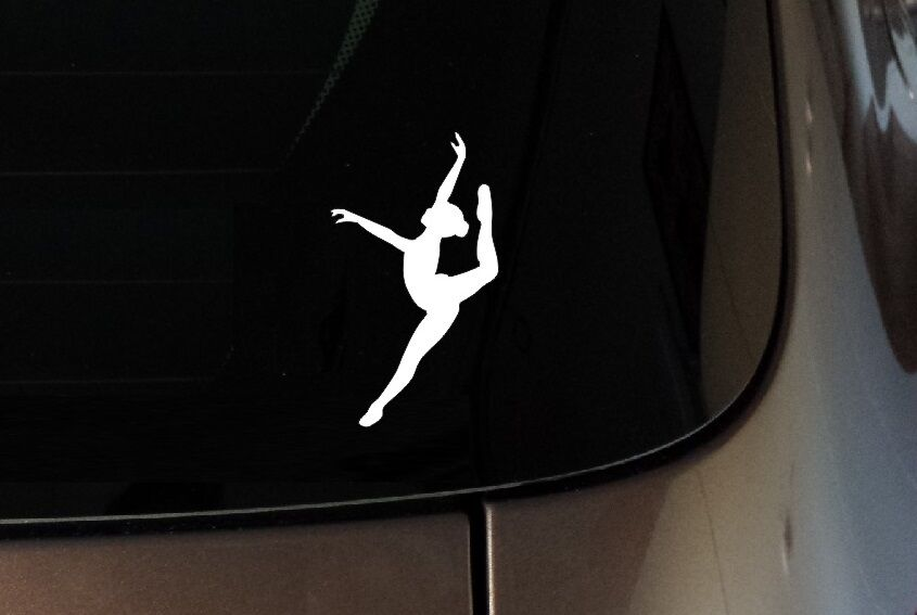 Ballerina Ballet Dancer Vinyl Decal Sticker Window Wall