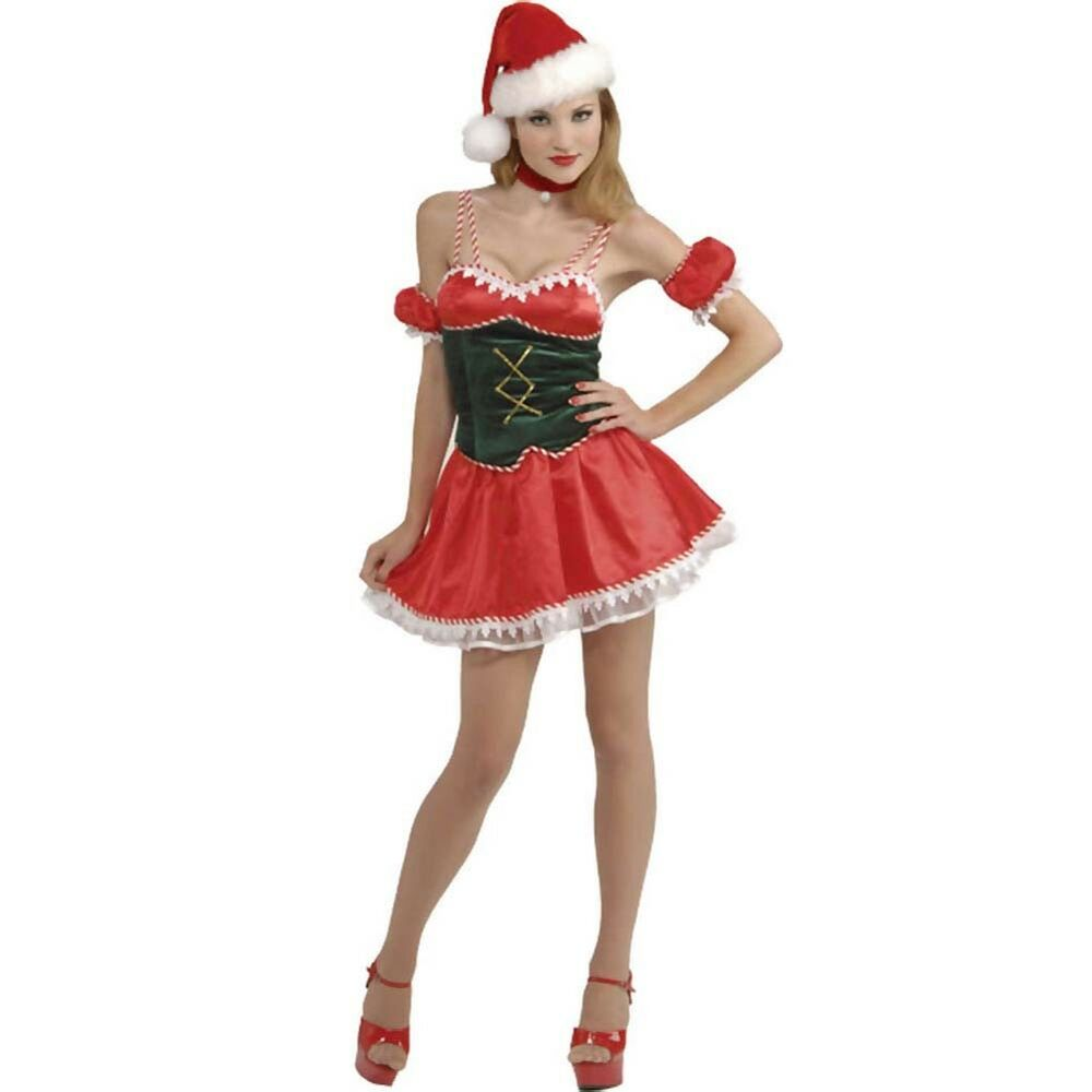 Sexy santa s little ho helper elf costume xmas women