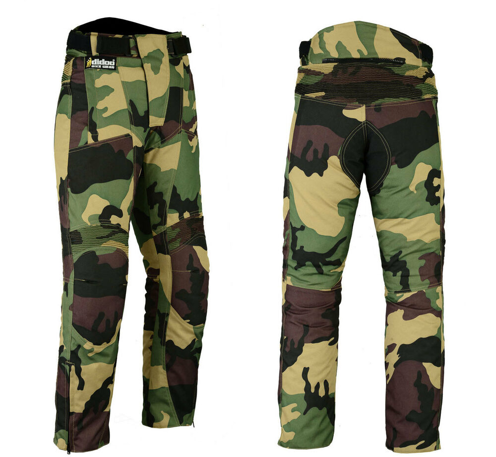 camo motorcycle trousers armoured waterproof textile. Black Bedroom Furniture Sets. Home Design Ideas