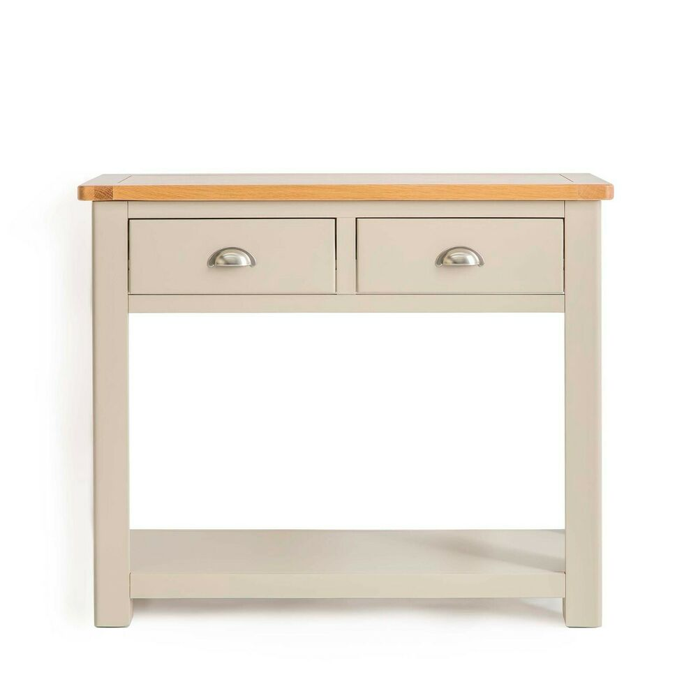 Padstow painted console table solid wood hall table for Painted foyer tables