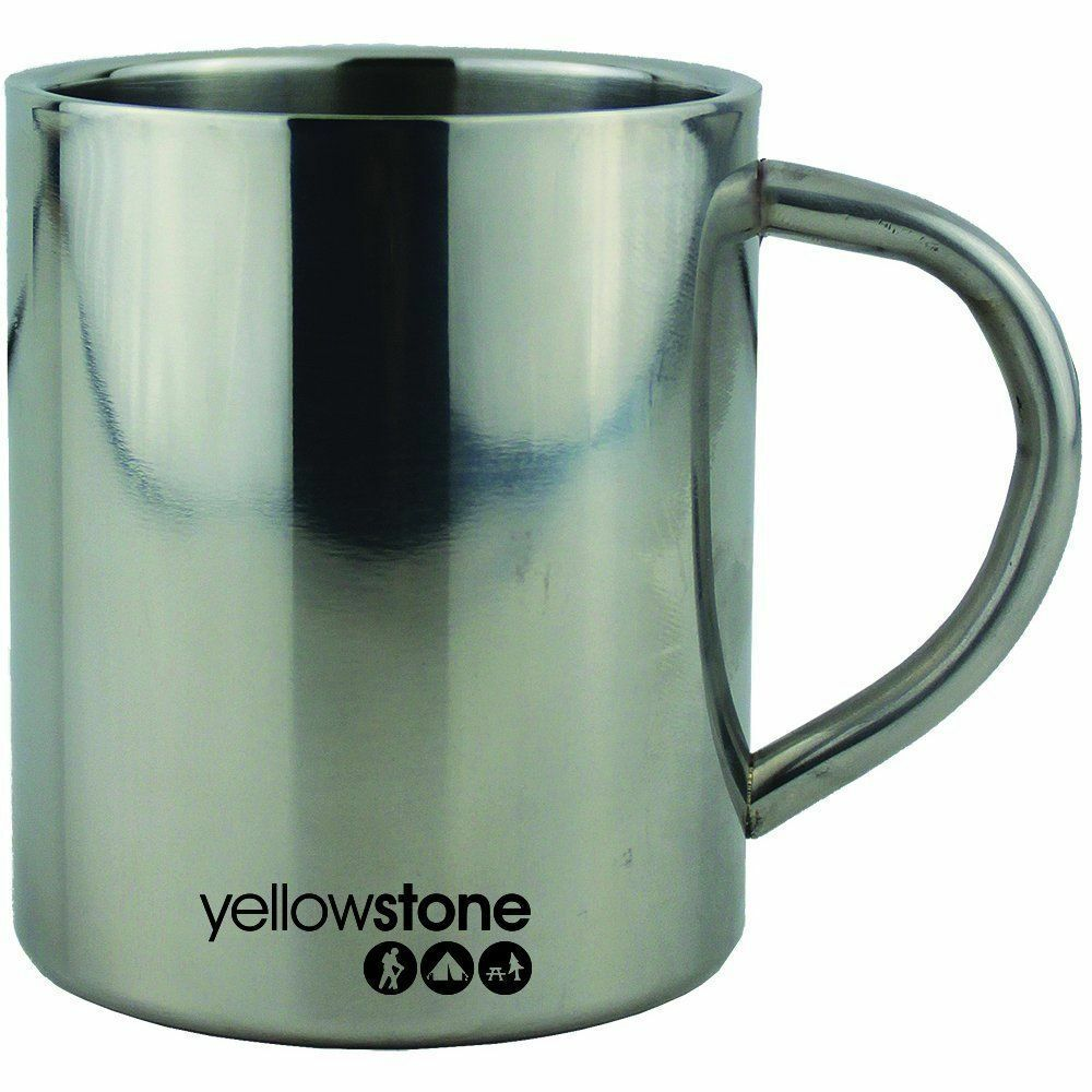 yellowstone 300ml stainless steel mug camping metal tea. Black Bedroom Furniture Sets. Home Design Ideas
