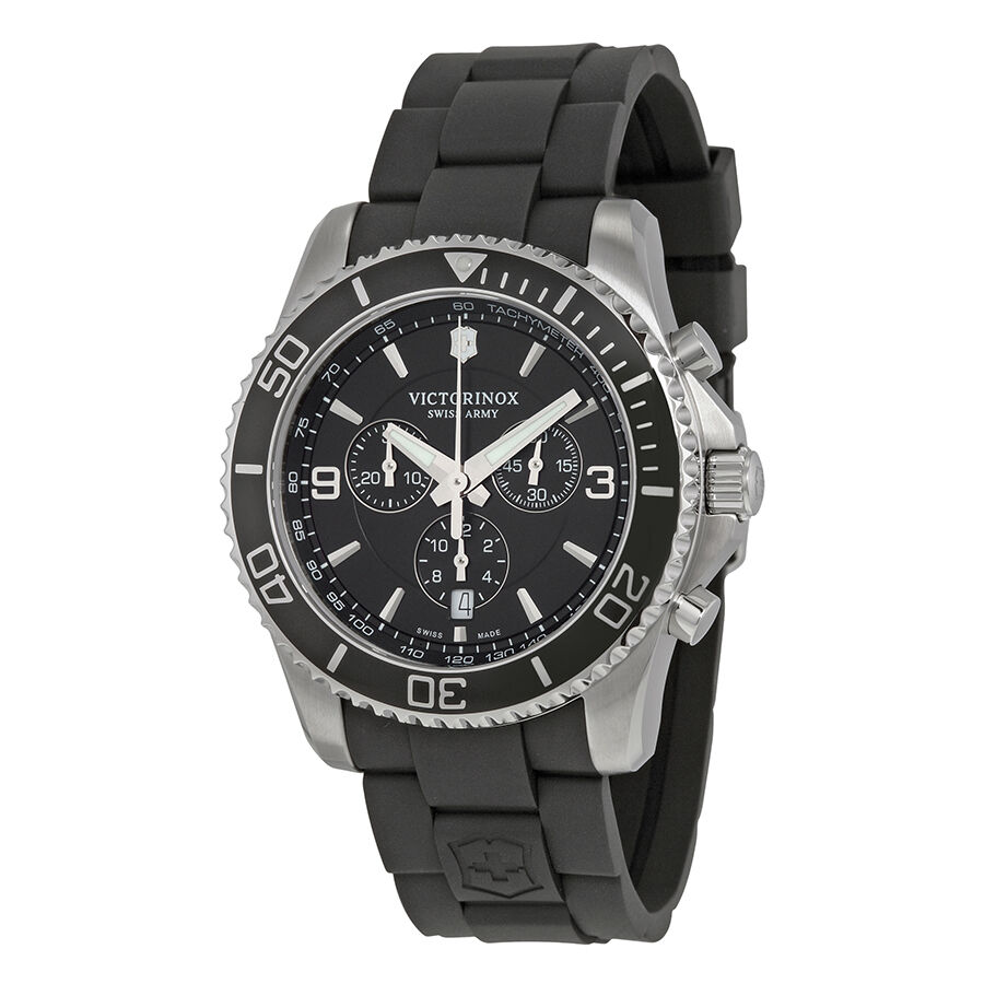 Victorinox maverick stainless steel mens watch 241696 ebay for Watches on ebay