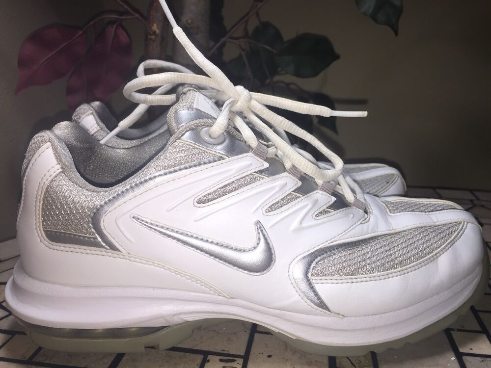 nike air max sport women 39 s golf shoes size 8 white. Black Bedroom Furniture Sets. Home Design Ideas