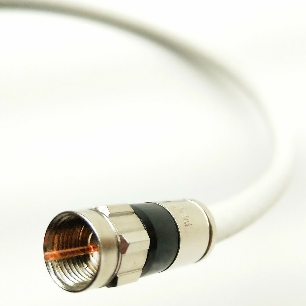 100ft RG6 White Coax/Coaxial Standard & HD Satellite Cable-TV ...