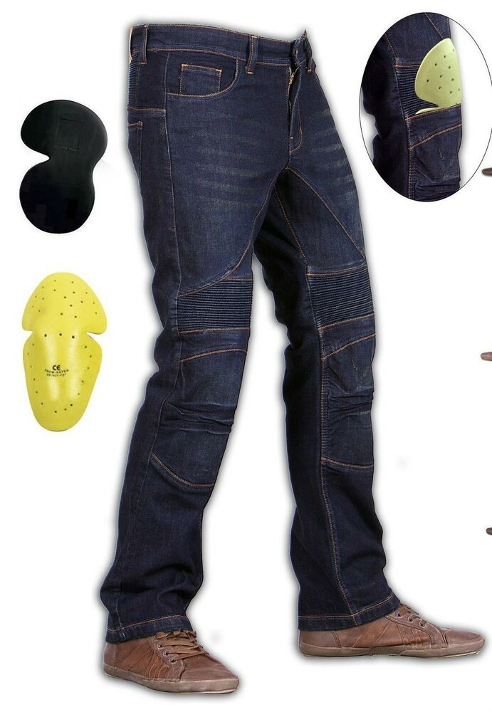 force riders mens motorcycle skinny jeans with dupont kevlar fiber liner ebay. Black Bedroom Furniture Sets. Home Design Ideas