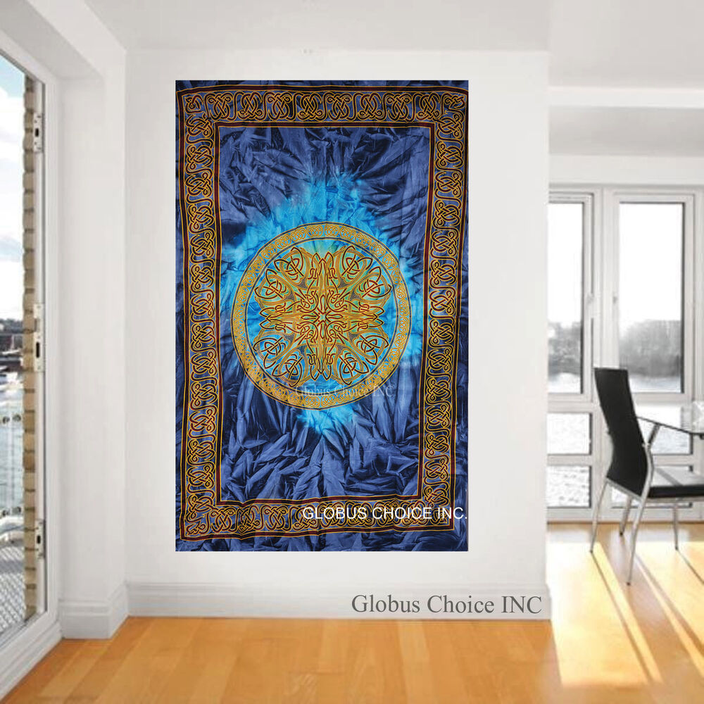 Wall hanging mandala celtic tattoo multi colour tapestry for Unusual home accessories