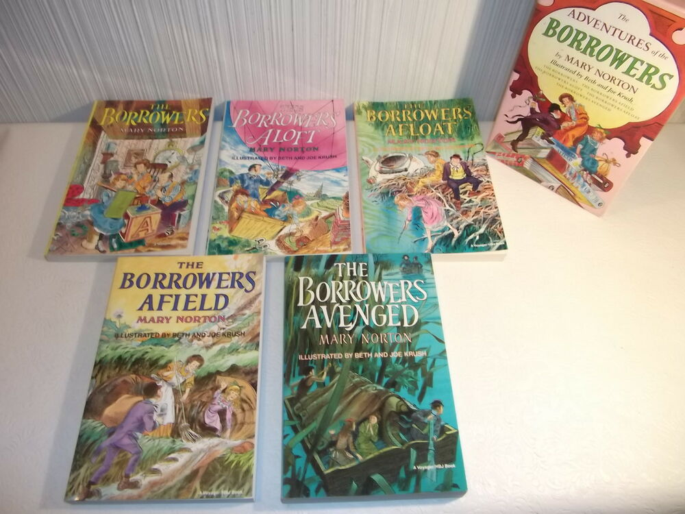 Boxed Set Of 5 The Adventures Of The Borrowers By Mary Norton