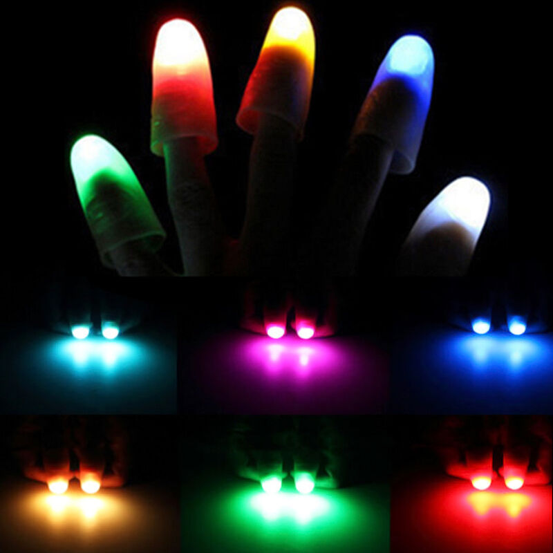 2PCS Light Up Thumbs Fingers Magic Trick Thumbs Tips ...