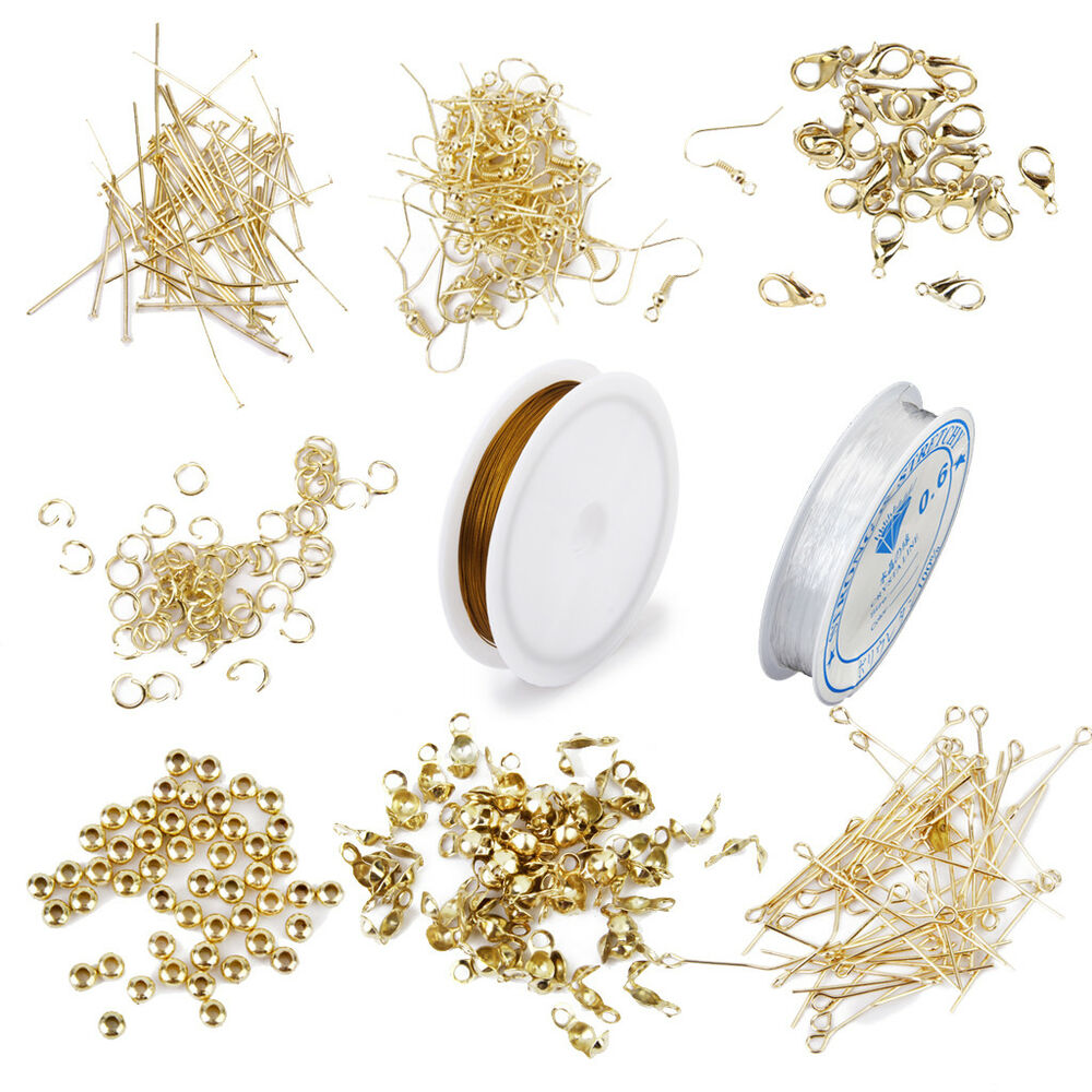 Jewellery Making Starter Kit Components Findings Elastic