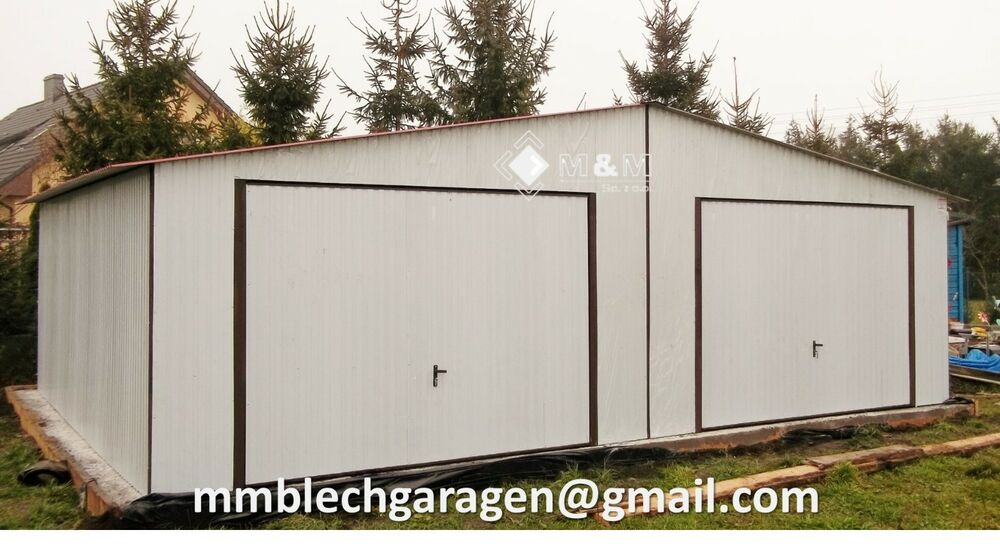 metallgarage halle blechgarage fertiggarage 8m x 5m mit. Black Bedroom Furniture Sets. Home Design Ideas