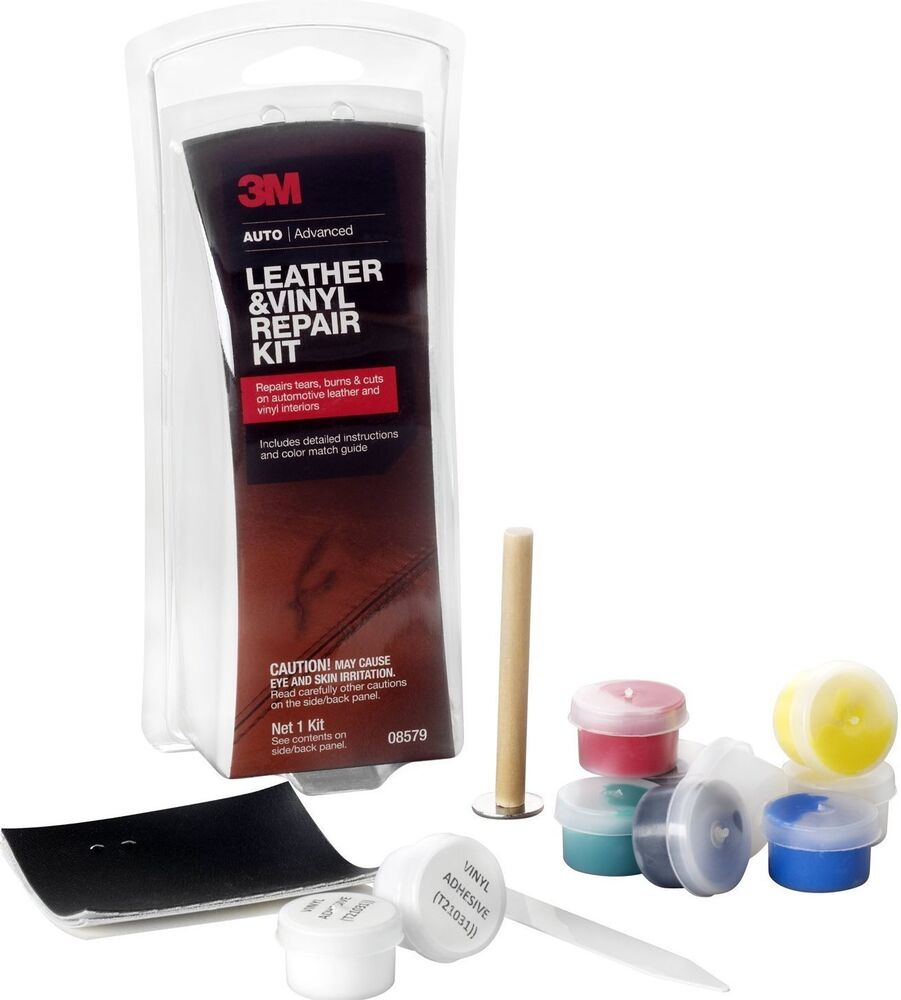 3M Leather And Vinyl Repair Kit Car Home Office Fix Patch Tears Burns Holes