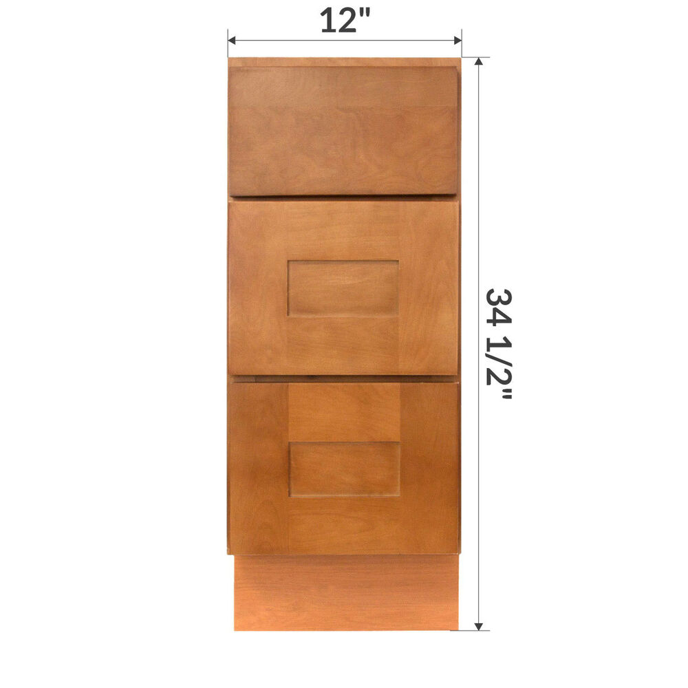 12 bathroom cabinet lesscare newport 12 quot bathroom maple vanity drawer base 10019