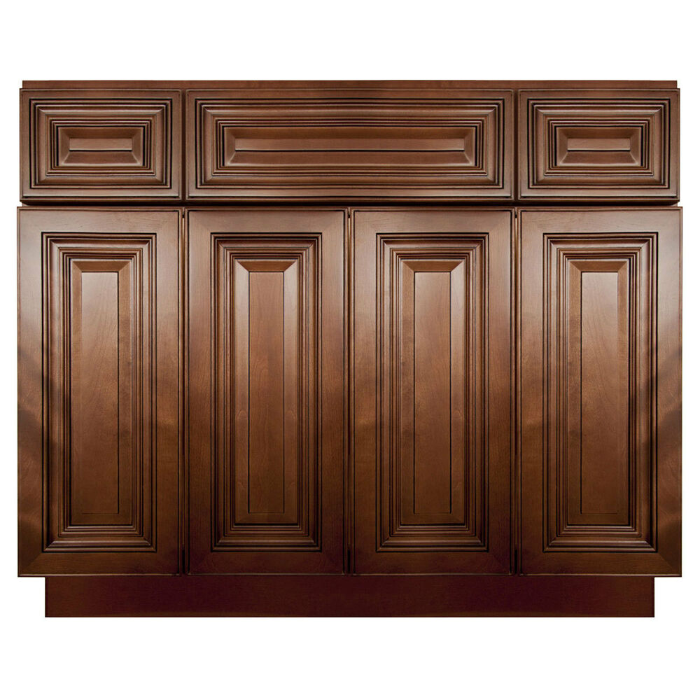 lesscare geneva 48 bathroom maple vanity sink base cabinets ebay. Black Bedroom Furniture Sets. Home Design Ideas