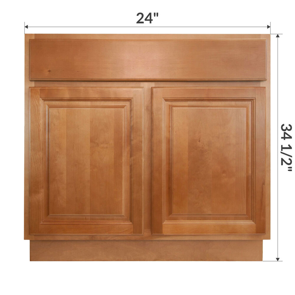 Lesscare Richmond 24 Bathroom Maple Vanity Sink Base Cabinets Ebay