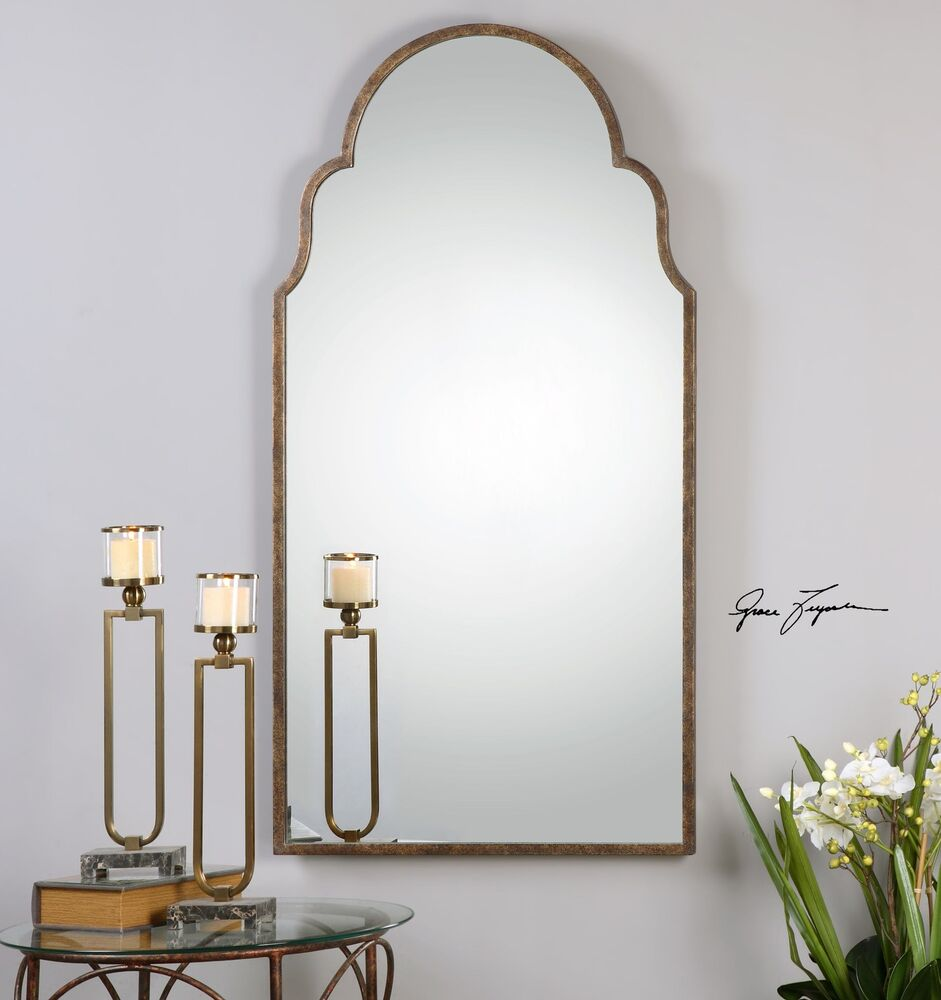 Full length shaped arch wall mirror curved tall unusual - Unusual large wall mirrors ...