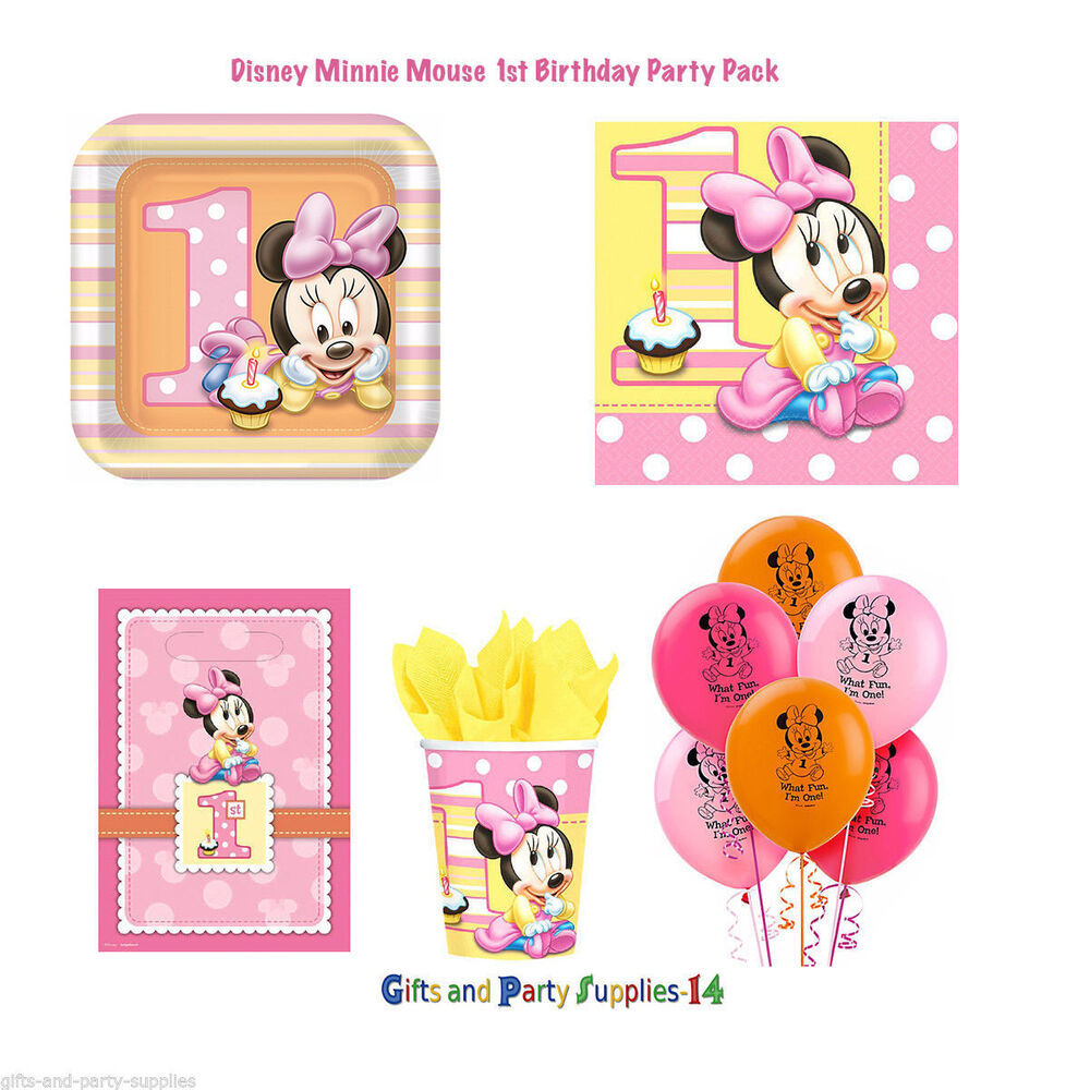 Minnie Mouse 1st Birthday: Disney Minnie Mouse 1st Birthday Party Supply Decorations