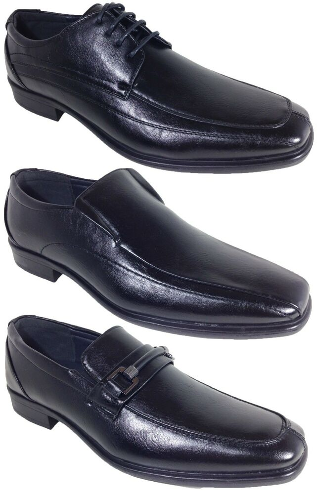 alberto leather dress shoes black lace up slip on