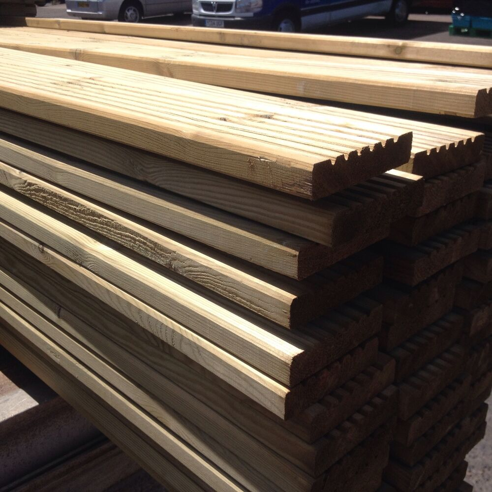 timber decking boards new tanalised 120mm x 25mm 3 6m
