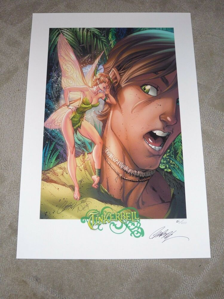 TINKERBELL LE ART PRINT SIGNED BY J SCOTT CAMPBELL 13x19 ...