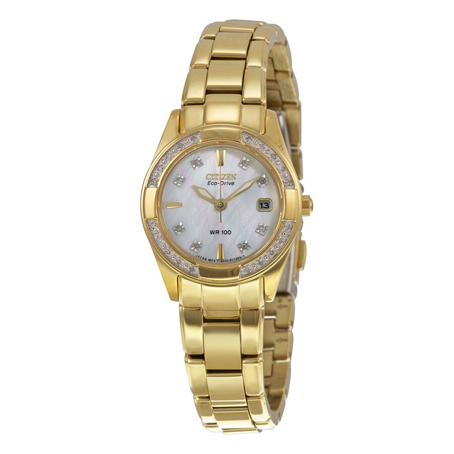 Citizen Regent Eco-Drive Mother of Pearl Dial Gold-tone ...