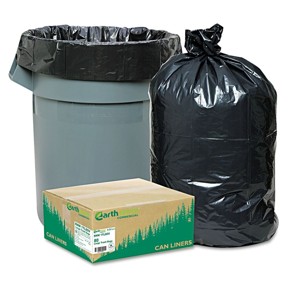 New 80 Large 33 Gallon Commercial Trash Can Bags Heavy