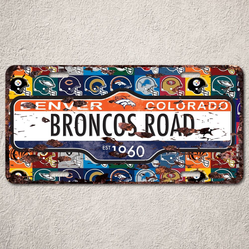 LP0064 Colorado Denver Auto Car License Plate Sign Rust