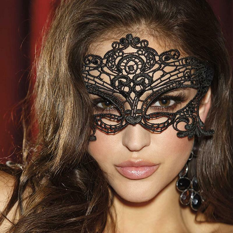 black lace cut out masks masquerade party mask sexy lady