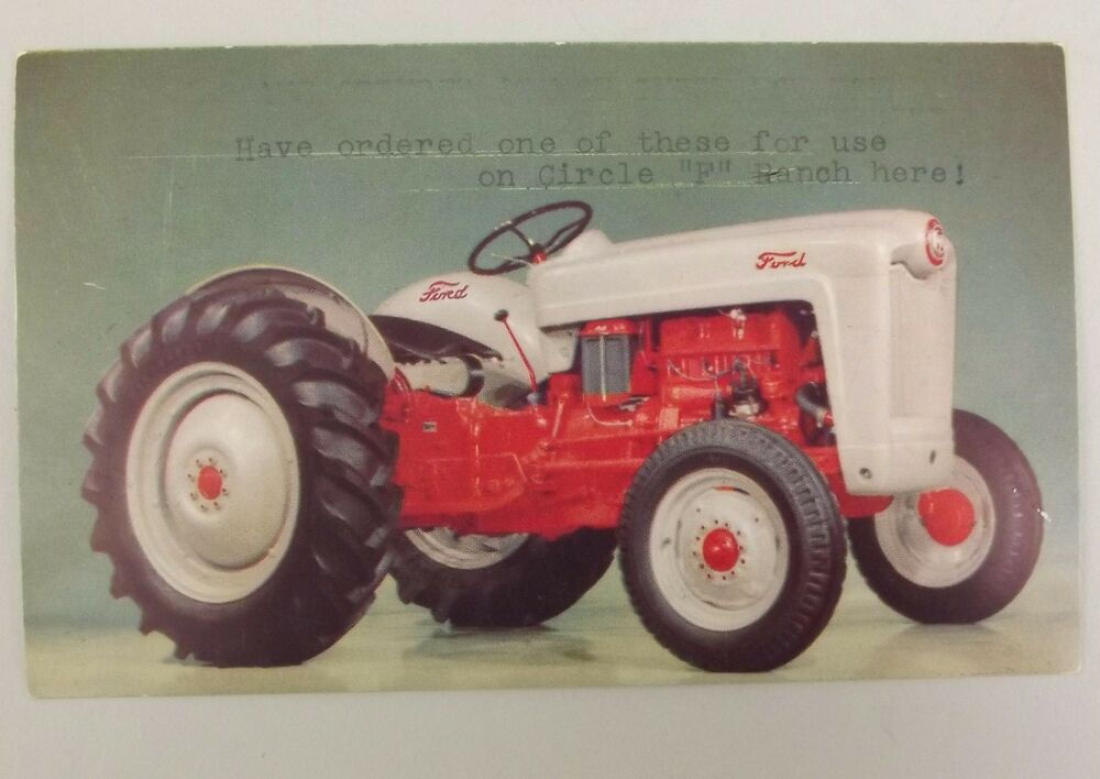 Ford Tractor Jubilee Model : Ford tractor postcard rppc color photo used vintage
